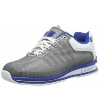 K. Swiss Rinzler Grey White Blue Mens Leather Trainers Shoes