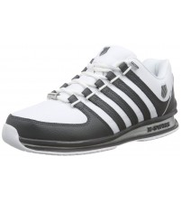 K. Swiss Rinzler SP White Charcoal Mens Leather Trainers Shoes