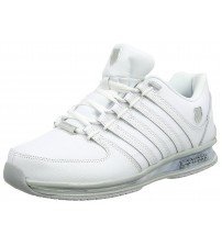 K. Swiss Rinzler SP White Grey Mens Leather Trainers Shoes
