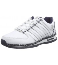 K. Swiss Rinzler SP White Navy Mens Leather Trainers Shoes