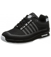 K. Swiss Rinzler Black White Mens Mesh Trainers Shoes