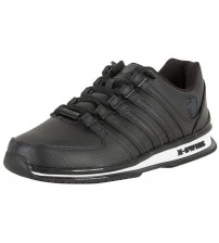 K. Swiss Rinzler Black White Mens Leather Trainers Shoes