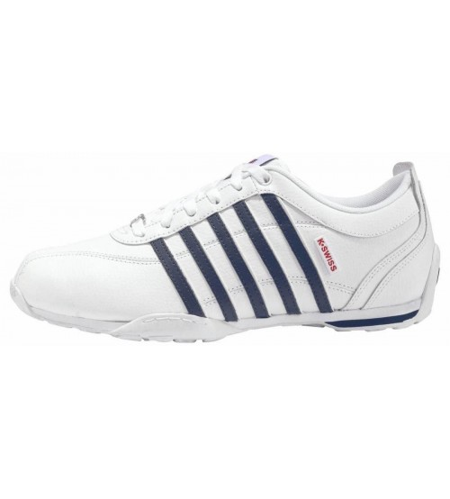 0ae926c5790 K. Swiss Arvee 1.5 White Navy Red Mens Leather Trainers
