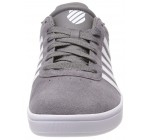 K. Swiss Court Cheswick Charcoal White Mens Suede Trainers
