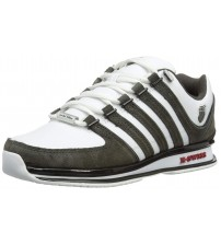 K. Swiss Rinzler SP White Black Red Mens Leather Trainers