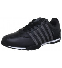 K. Swiss Arvee 1.5 Black Grey Mens Leather Trainers Shoes