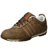 K. Swiss Arvee 1.5 Brown White Mens Leather Trainers Shoes