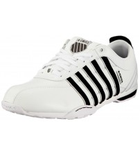 K. Swiss Arvee 1.5 White Black Black Mens Leather Trainers Shoes