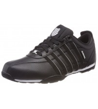 K. Swiss Arvee 1.5 Black White Mens Leather Trainers Shoes