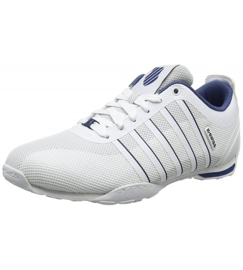 K Swiss Arvee 15 Tech White Navy Mens Mesh Trainers