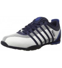K. Swiss Arvee 1.5 White Navy Blue Mens Tech Trainers Shoes
