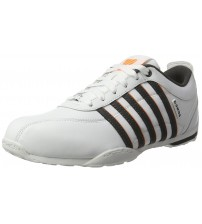 K. Swiss Arvee 1.5 White Grey Orange Mens Leather Trainers