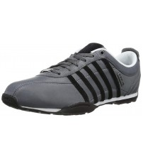 K. Swiss Arvee 1.5 Charcoal Black Mens Leather Trainers Shoes