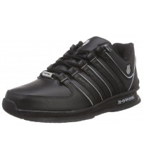 K. Swiss Rinzler SP Black Grey Mens Leather Trainers Shoes