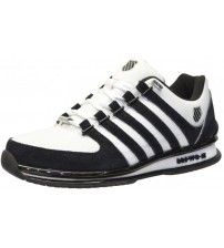K. Swiss Rinzler SP White Black Mens Leather Trainers Shoes