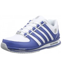 K. Swiss Rinzler SP White Blue Mens Leather Trainers Shoes