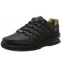 K. Swiss Rinzler Black Camo Mens Leather Trainers Shoes