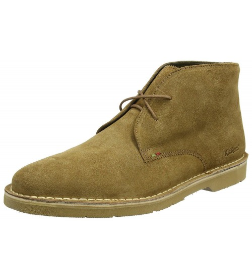 Kickers Kanning Plus Sand Mens Suede Chukka Boots