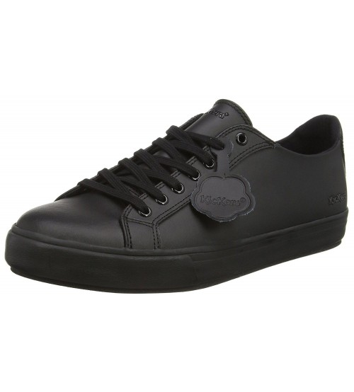 490e9a95 Kickers Tovni Lacer Black Mens Leather Trainers Shoes