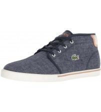 Lacoste Ampthill 218 Navy White Canvas Mens Trainers