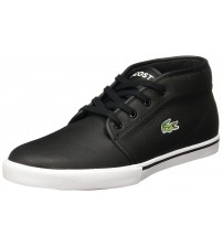 Lacoste Ampthill Lcr3 Spm Black White Leather Mens Trainers