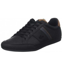 Lacoste Chaymon 318 Black Brown Leather Mens Trainers Shoes