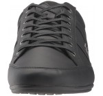 Lacoste Chaymon 118 Black Grey Leather Mens Trainers Shoes