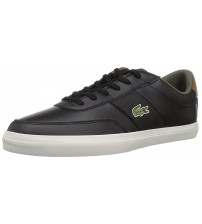 Lacoste Court Master 318 Black Brown Leather Mens Trainers