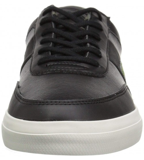 1752befa6e75b Lacoste Court Master 318 Black Brown Leather Mens Trainers