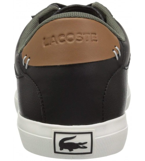 ba1ef293c Lacoste Court Master 318 Black Brown Leather Mens Trainers