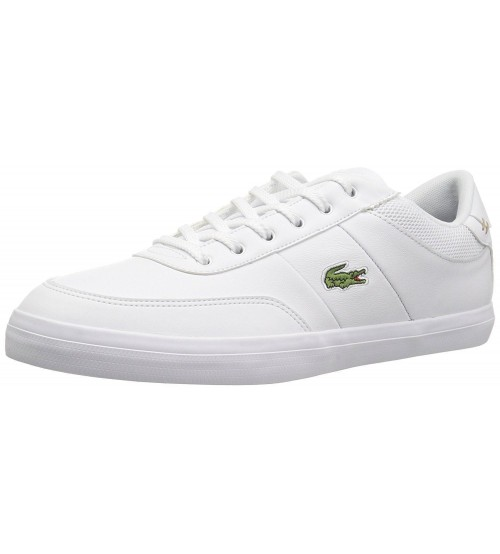 33c2e0af8133fc Lacoste Court Master White Navy Leather Mens Trainers Shoes