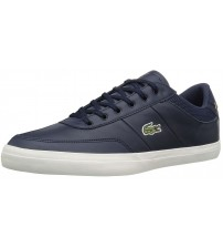 Lacoste Court Master 118 Navy White Leather Mens Trainers Shoes