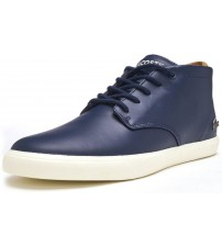 Lacoste Espere Chukka 417 Navy White Leather Mens Boots