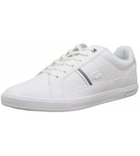 Lacoste Europa 417 White Leather Mens Trainers Shoes