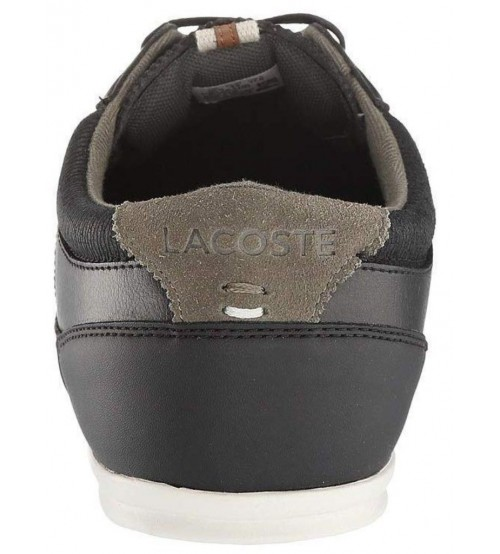 a0068a2fe Lacoste Evara 318 Black Off White Leather Mens Trainers