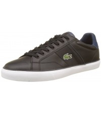 Lacoste Fairlead 317 2 Black White Leather Mens Trainers Shoes