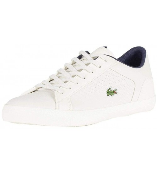 Lacoste Lerond 418 Off White White Mens Leather Trainers