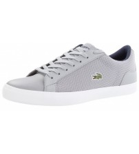 Lacoste Lerond 117 3 Cam Grey White Leather Mens Trainers