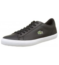Lacoste Lerond BL 1 Cam Black White Leather Mens Trainers