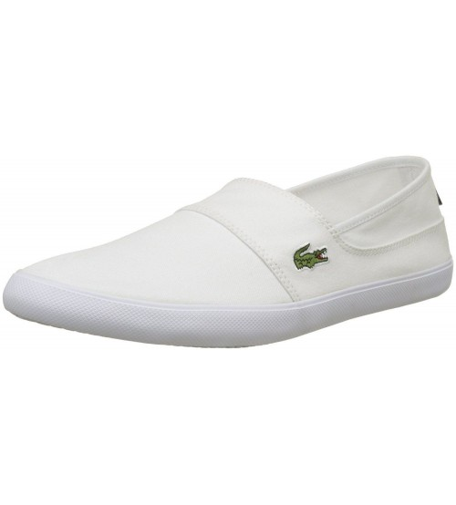 Lacoste Marice BL 2 White Canvas Mens Slip-ons Shoes