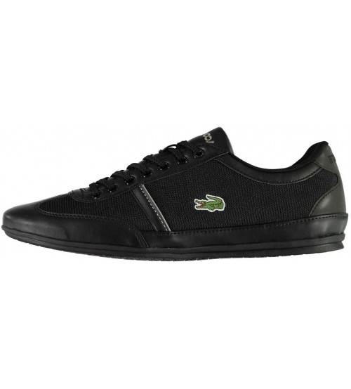 0ab8e45f461af0 Lacoste Misano Sport 318 Black Mens Trainers Shoes