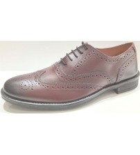 Lambretta Fleet Bordo Leather Men Formal Shoes