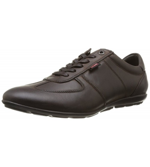 Levi's Chula Vista Dark Brown Mens Leather Trainers Shoes