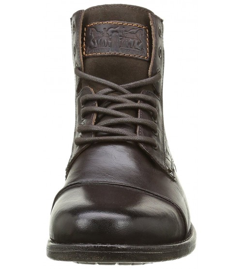 c918dcab41b Levi's Emerson Brown Leather Mens Lace Up Mid Ankle Leather Army Boots