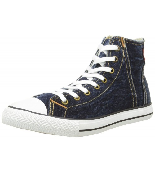 Levi's Original Red Tab Blue White Mens Hi Trainers