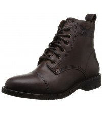 Levi's Raker Brown Men Lace Up Mid Ankle Leather Army Shoes