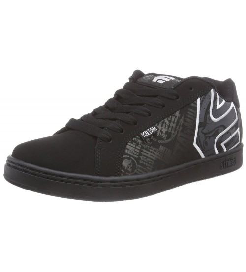 Etnies Metal Mulisha Fader Black White Men Leather Trainers