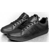 New York Yankees Fulcane Black Mens Leather Trainers Shoes