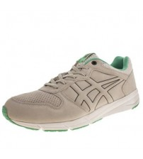 Onitsuka Tiger Shaw Runner Grey White Green Suede Mens Trainers