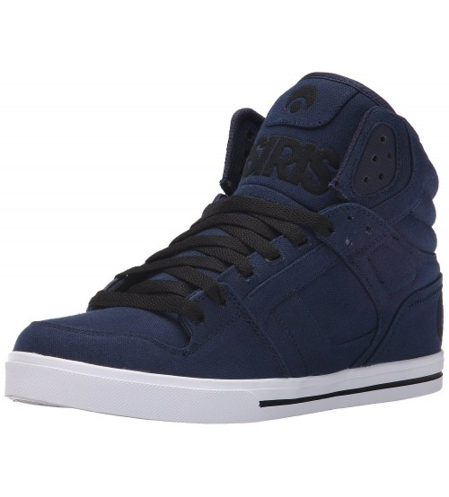 Osiris Clone Blue White Mens Hi Top Skate Trainers Shoes